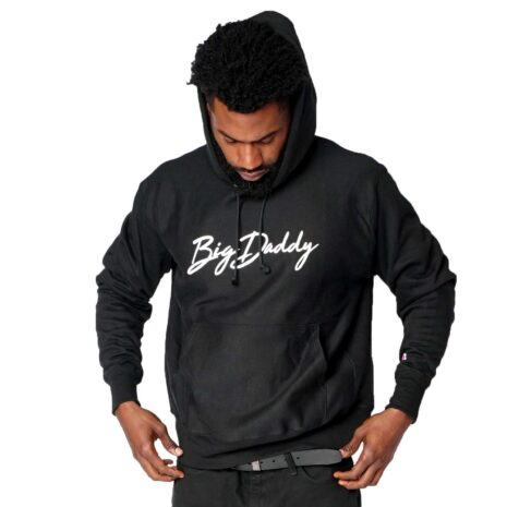 "Big Daddy ""Signature"" Reverse Weave Hooded Sweatshirt (Black)"