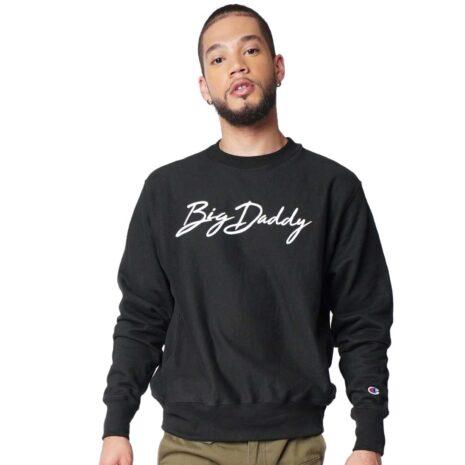 "Big Daddy ""Signature"" Reverse Weave Crewneck Sweatshirt (Black)"