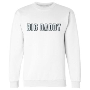 Big Daddy Twill Applique Crewneck Sweatshirt (White)