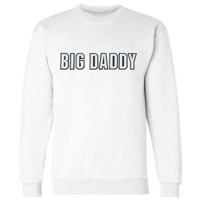 Big Daddy Twill Applique Crewneck Sweatshirt (White)