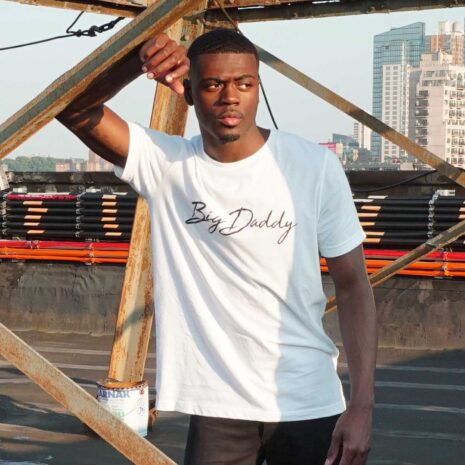 "Big Daddy ""Signature"" Soft Tri-Blend Tee (White)"