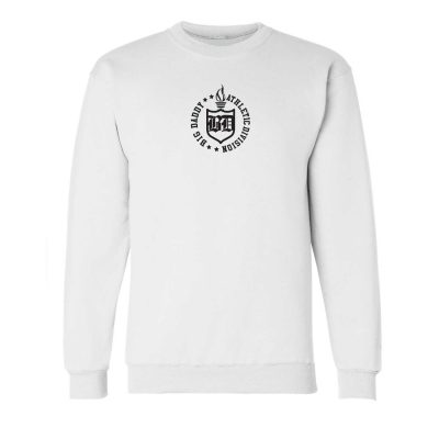 Big Daddy Embroidered Crewneck Sweatshirt (White)