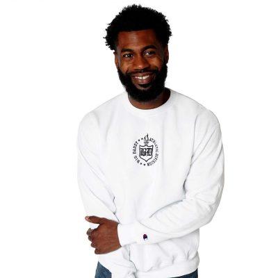 Big Daddy Embroidered Crewneck Sweatshirt (White)
