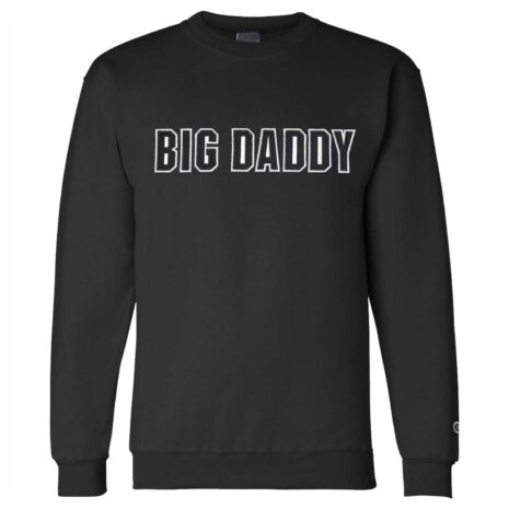 Big Daddy Twill Applique Crewneck Sweatshirt (Black)