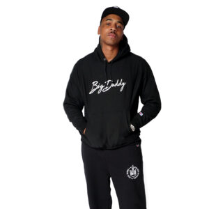"Big Daddy ""Signature"" Reverse Weave Hooded Sweatshirt (Black)"