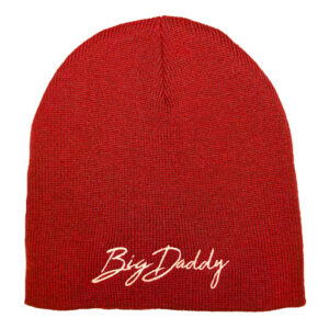 Big Daddy Knit Skull Cap (Red)