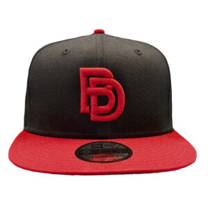 Big Daddy Puff Logo Snapback Hat (Black/Red)