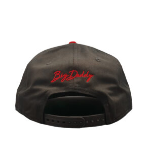 Big Daddy Puff Logo Snapback Hat (Black/Red)