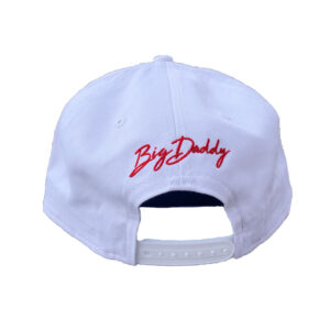 Big Daddy Red Puff Logo Snapback Hat (White)