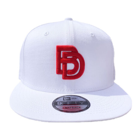 Big Daddy White-Snapback-Red-BD-FRONT