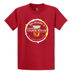 Big Daddy's Tequila Bar Tee in Red