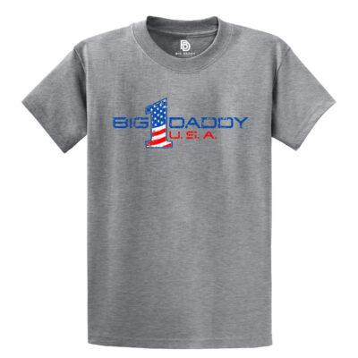 Big Daddy USA Tee in Athletic Heather Grey