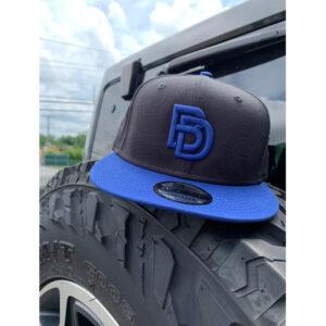 Big Daddy Puff Logo Snapback Hat (Black/Royal)