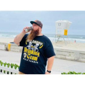 Justin Allen_Big Daddy Drinking Team Tee at the beach