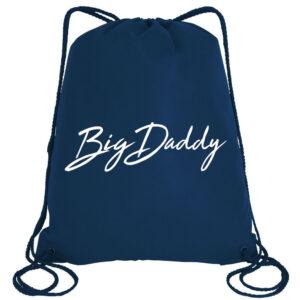 Big Daddy Signature Drawstring Bag in Navy